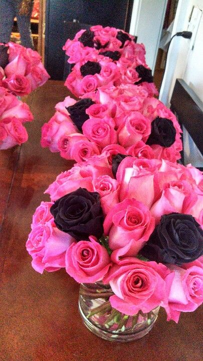 Pink centerpiece ideas