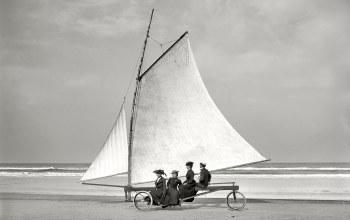 буер,колёса,парус,дамы,1900-й год,сша