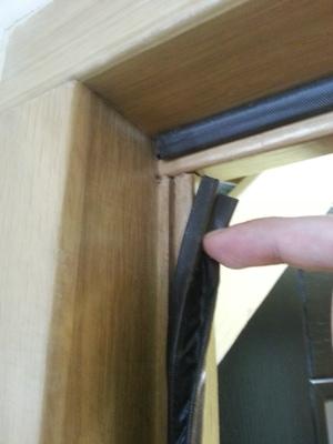 Rubber door seals for wooden doors