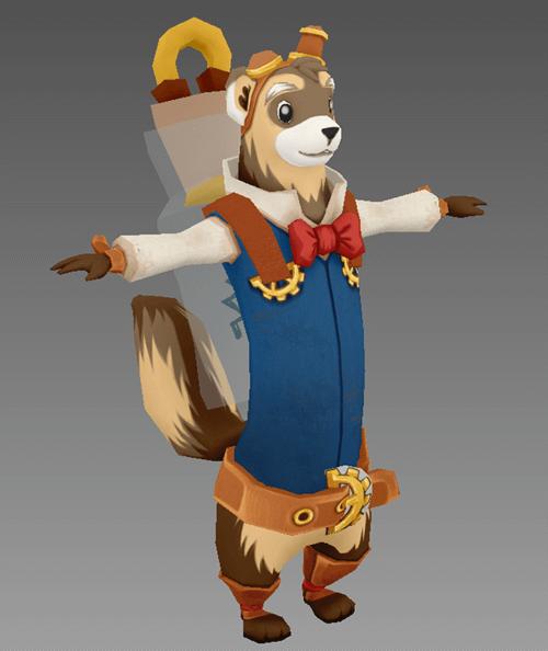 Ferelius Ferret RPG Character