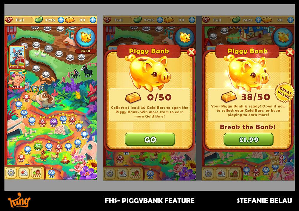 Farm Heroes Piggybank Feature