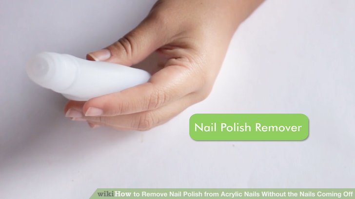 How to remove nail polish from acrylic nails