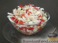 Рецепт салата огурцы помидоры капуста