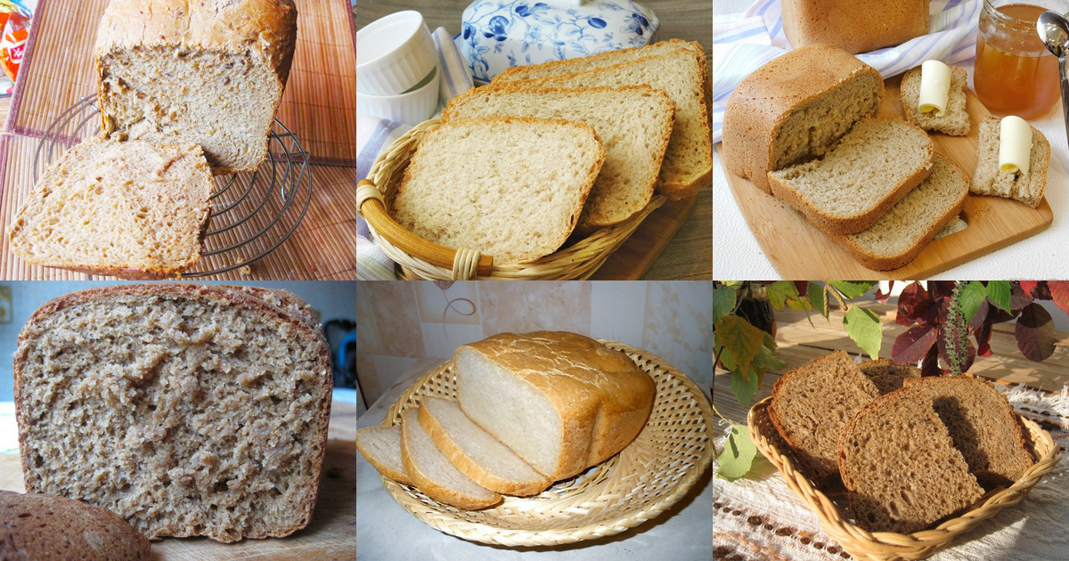 Хлеб ржаной без закваски в хлебопечке
