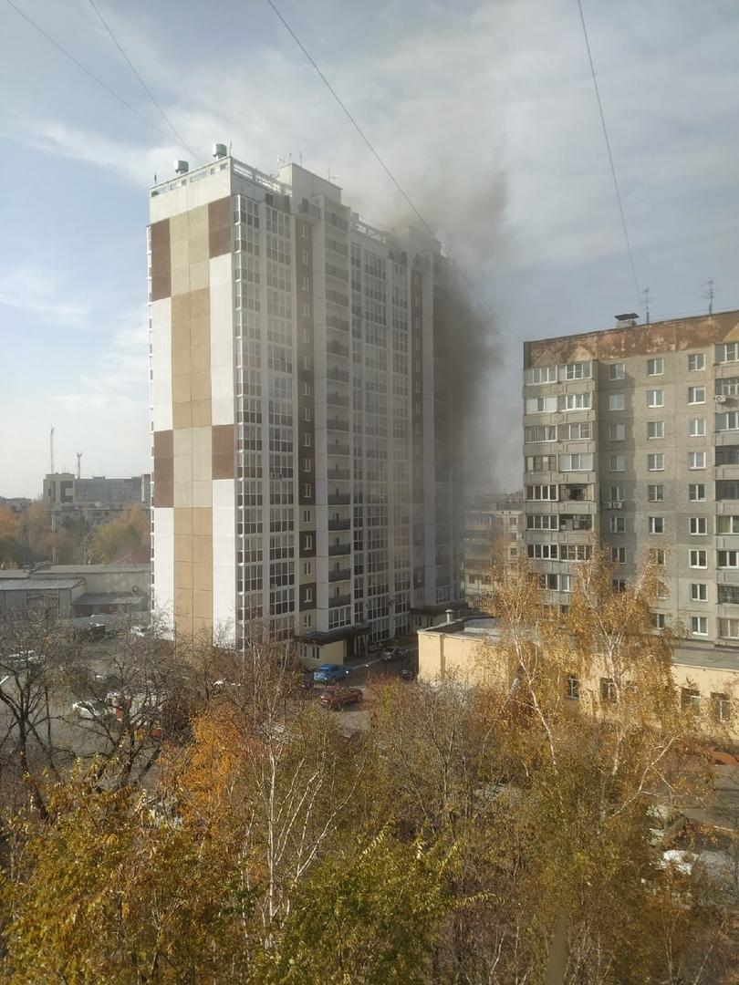 В центре Кургана горела 17-этажка, спасено 33 человека, есть пострадавшая