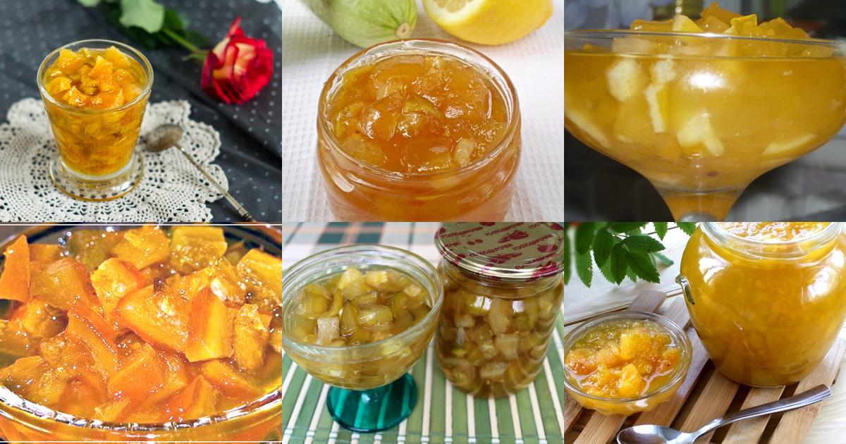 Рецепт варенье из кабачков с лимонами