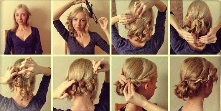 На фото вы можете увидеть хороший вариант прически на короткие волосы до плеч.