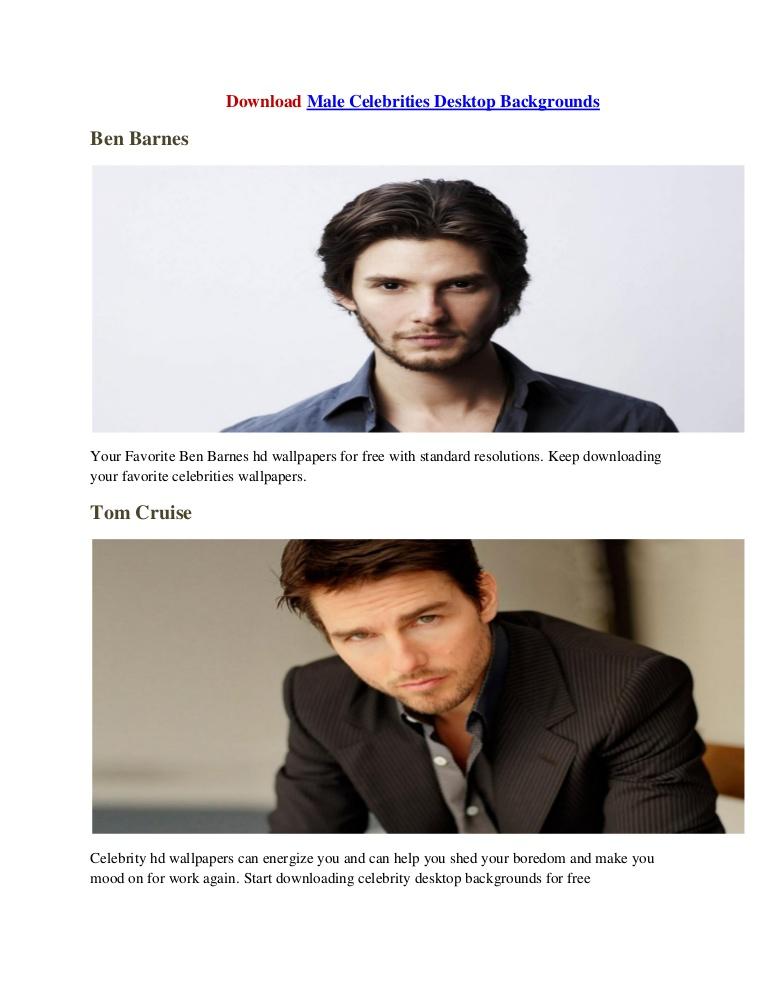 Desktop backgrounds celebrities