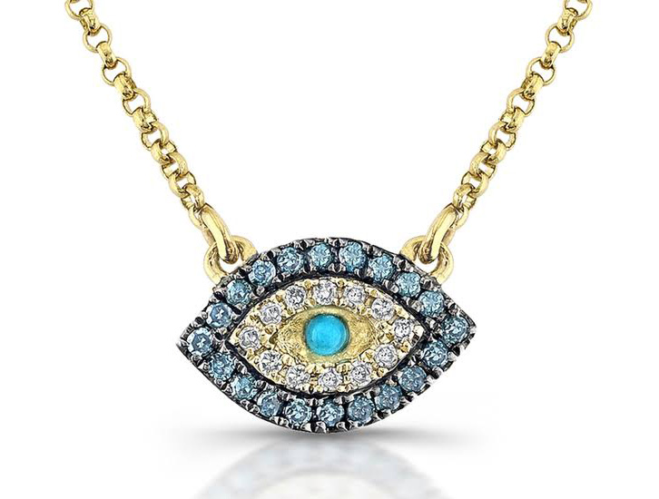 Rihanna evil eye necklace