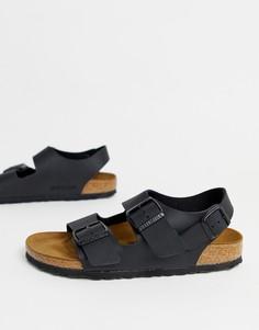 Черно-белые сандалии adidas Originals Adilette - Черный