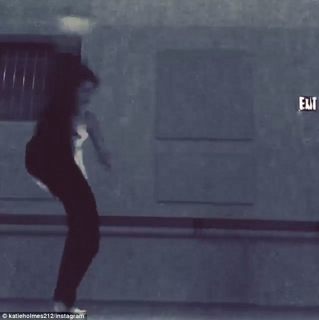 Kicking up her heels: The dance-enthusiast captioned the clip: 'Kicking into Wednesday! Have a great day!'