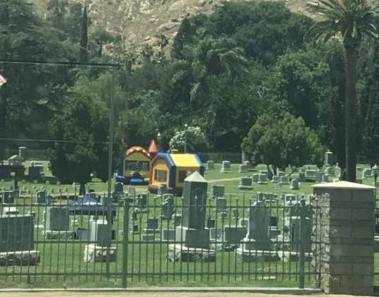 best funny pictures, funny pics, funny photos, funny pictures, funny vids, the best funny pictures, really funny photos, cemetery bounce house