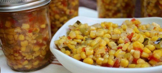 салат с кукурузой на зиму