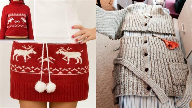 Переделка старых свитеров