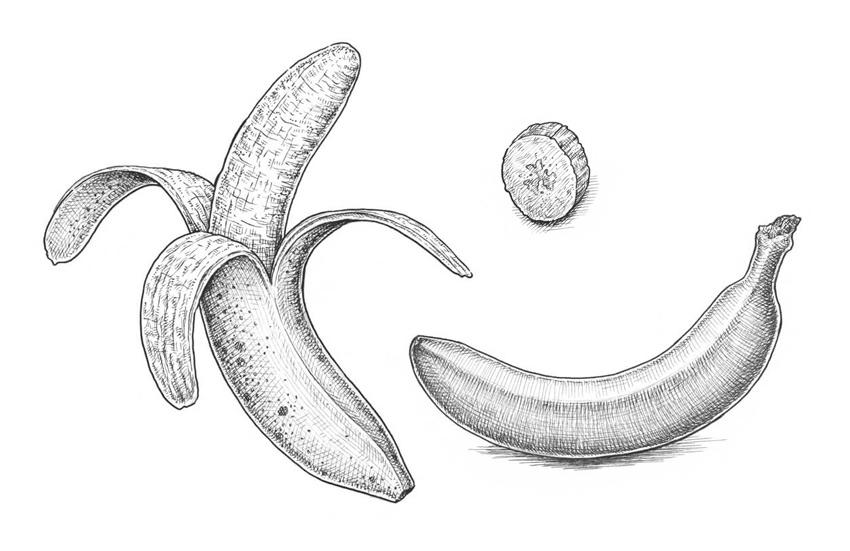 Рисунки банан