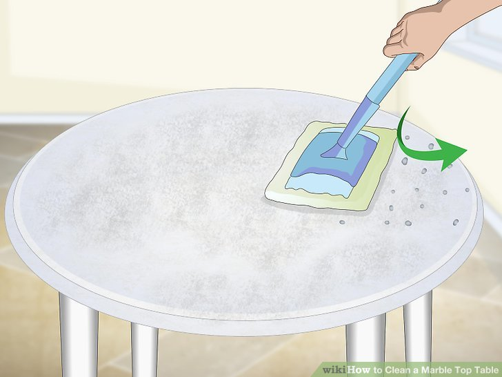 Sealing marble table top