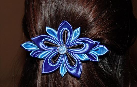 Заколки для волос своими руками из лент