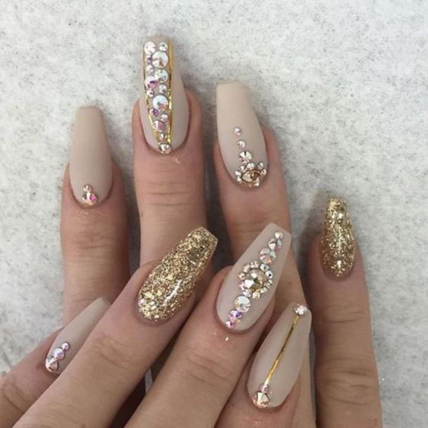 Girl fake nails