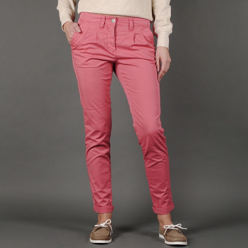 Pink chino pants women