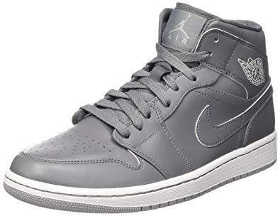 Gray jordans high tops
