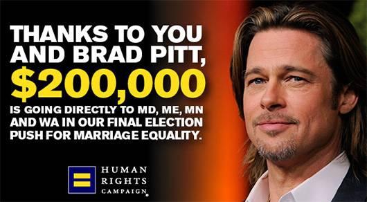 Brad pitt marriage equality