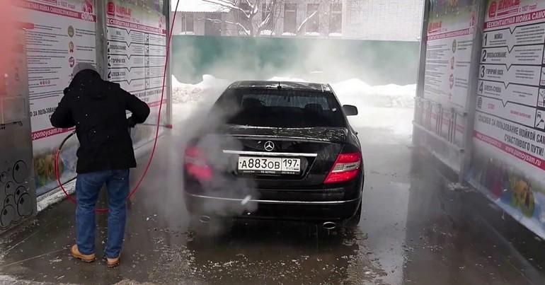 Автомойка зимой