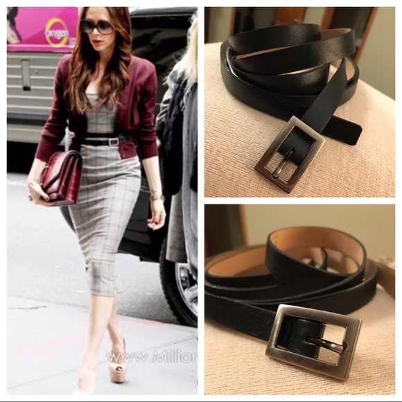 Victoria beckham double wrap black belt