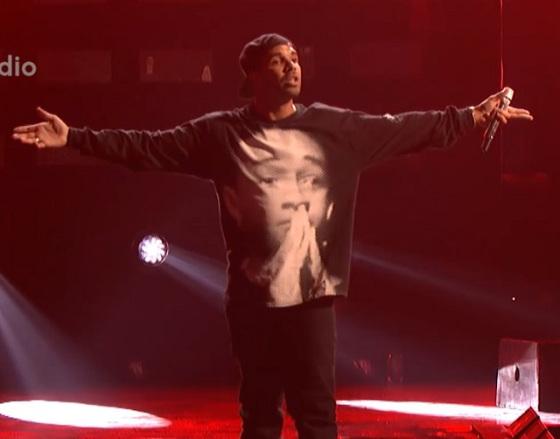 Drake wearing jaden smith shirt