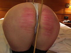 Clip 84Lar Lara Spanked OTK and Caning Bent Over