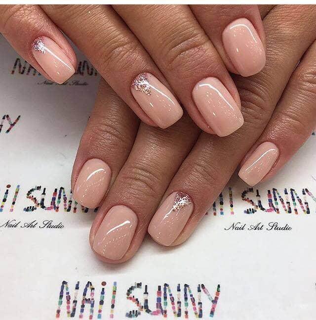 Chic Neutral Designer Nails
