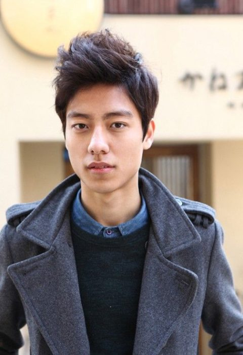 7. Spiked Short Korean Hairstyle for men