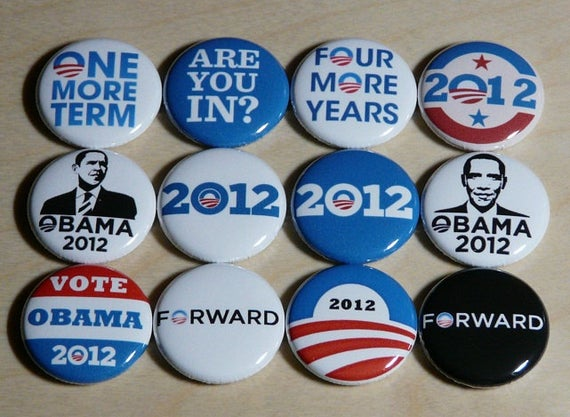 Barack obama buttons pins