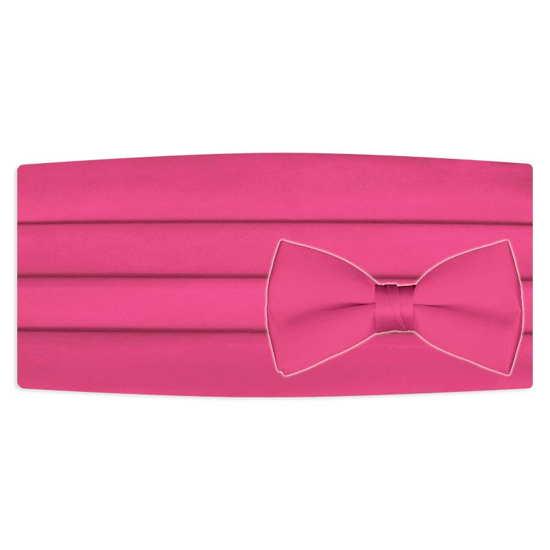 Pink cummerbund and bow tie