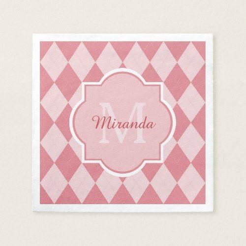 Pink designs monograms