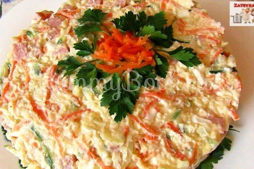 Салат с морковью по корейски и ветчиной