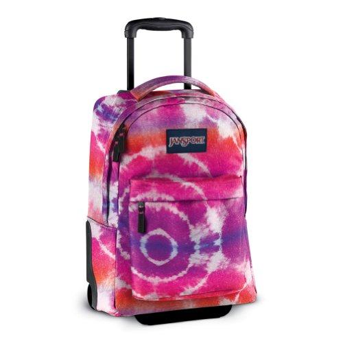 Jansport wheeled superbreak backpack pink prep hippy skip