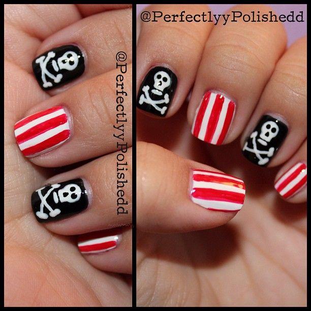 Halloween pirate nails