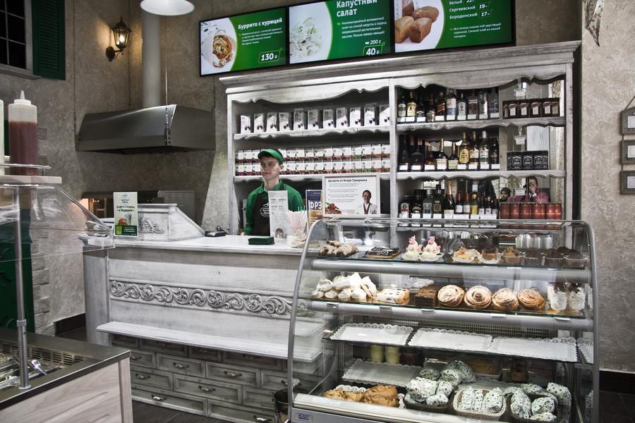 Дизайн продуктового небольшого магазина