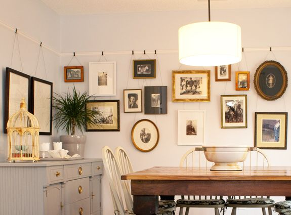 how to hang artwork without using nails Image courtesy of Pinterest