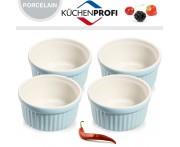 Набор керамических форм для духовки и морозильника, 4 шт, D 10 см, цвет голубой, Kuchenprofi, Германия