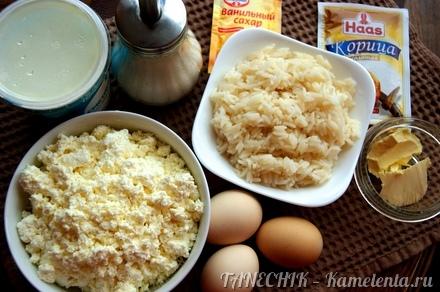 Рецепт запеканка с рисом и творогом