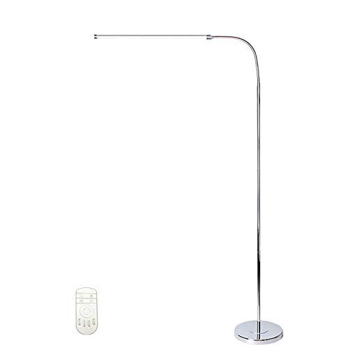 Black aluminum adjustable led floor lamp