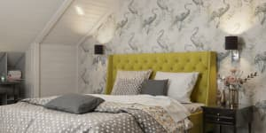 Дизайн спальни в частном доме фото