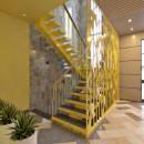 желтая лестница дизайн