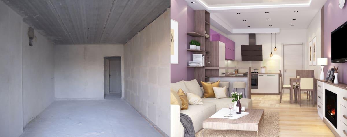 Дизайн интерьера квартиры Черкассы. фото до и после
