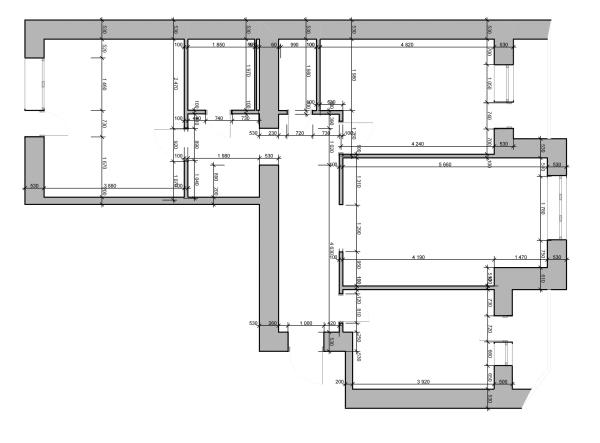Дизайн интерьера трехкомнатной квартиры Черкассы. до перепланировки