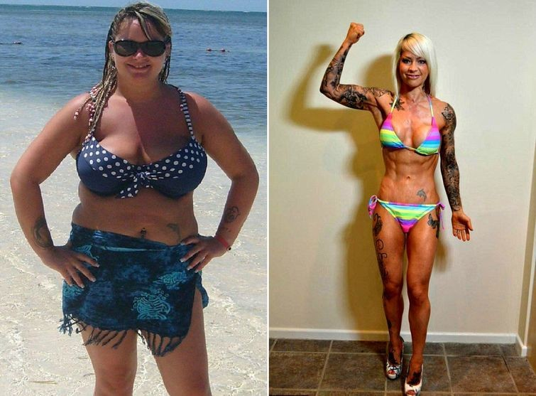 История похудения фото до и после женщины