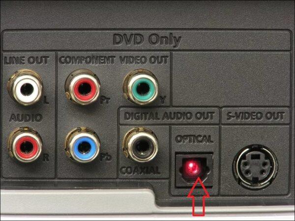 Оптический разъем на телевизоре