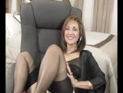 Ronis Paradise Silk Robe and Stockings Movie