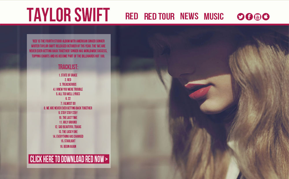 Taylor swift red album song list download